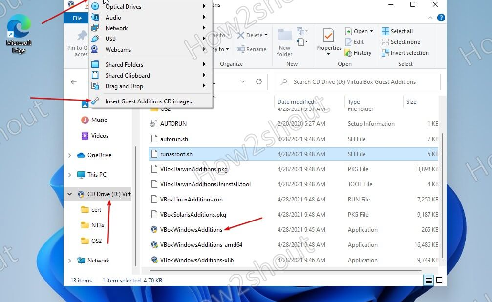 Install-VirtualBox-Guest-addtions-in-Windows-11