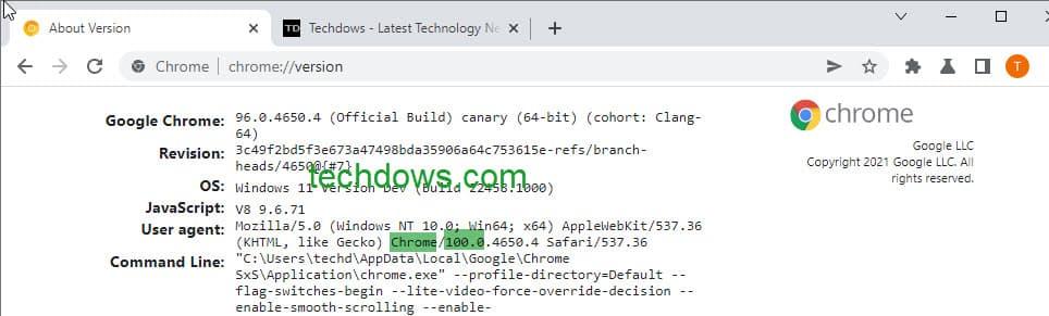Chrome-version-100.0-in-user-agent-string