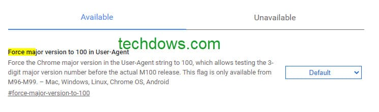 Force-Chrome-major-version-to-100-in-User-Agent-flag-1