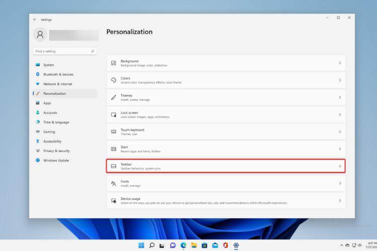 Personalization-Taskbar