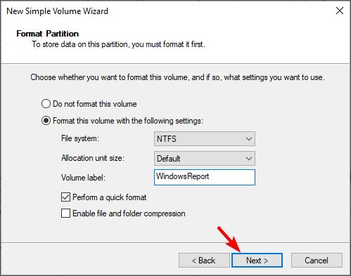 format-partition-disk-management