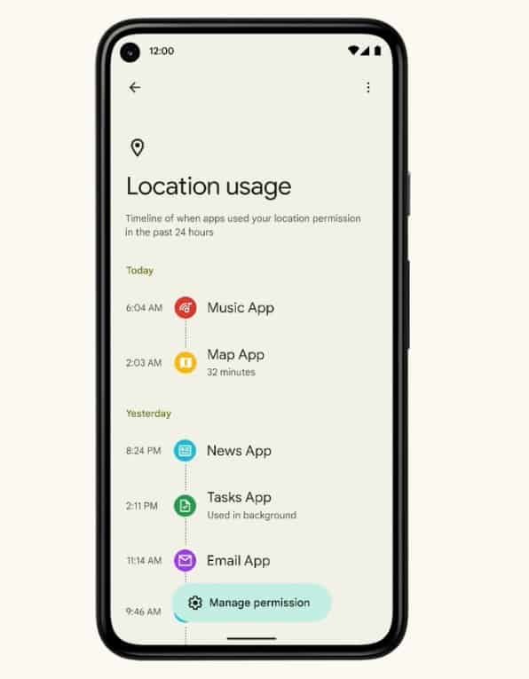 Android-12-Privacy-Dashboard-Usage-Stats