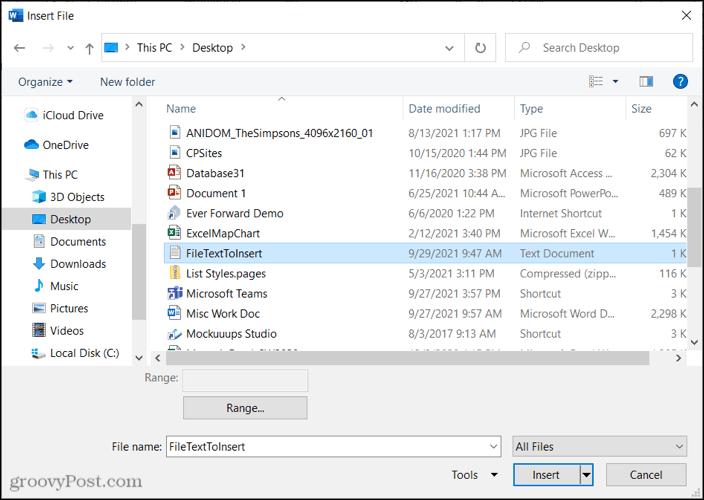 SelectFileText-WordEmbedFile